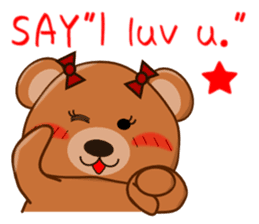 COCOA BEAR with English message sticker #5622950