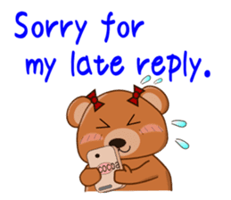 COCOA BEAR with English message sticker #5622952