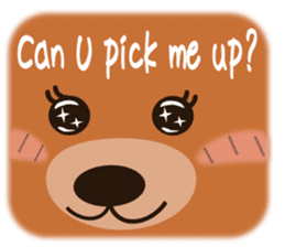 COCOA BEAR with English message sticker #5622957