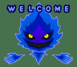 Blue Flame Onibi (Eng) sticker #5631566
