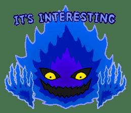 Blue Flame Onibi (Eng) sticker #5631567