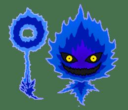 Blue Flame Onibi (Eng) sticker #5631569