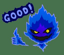Blue Flame Onibi (Eng) sticker #5631571