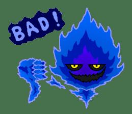 Blue Flame Onibi (Eng) sticker #5631572
