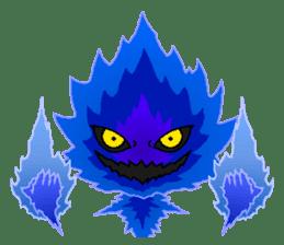 Blue Flame Onibi (Eng) sticker #5631573