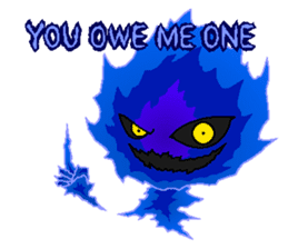 Blue Flame Onibi (Eng) sticker #5631574