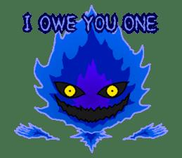 Blue Flame Onibi (Eng) sticker #5631575