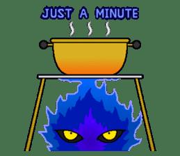 Blue Flame Onibi (Eng) sticker #5631581