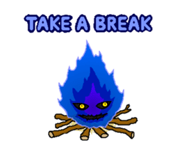 Blue Flame Onibi (Eng) sticker #5631582