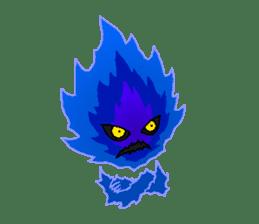 Blue Flame Onibi (Eng) sticker #5631589