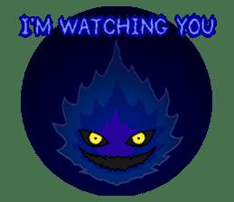 Blue Flame Onibi (Eng) sticker #5631592