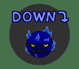 Blue Flame Onibi (Eng) sticker #5631593