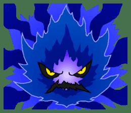 Blue Flame Onibi (Eng) sticker #5631596