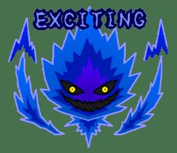 Blue Flame Onibi (Eng) sticker #5631599