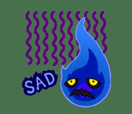 Blue Flame Onibi (Eng) sticker #5631601