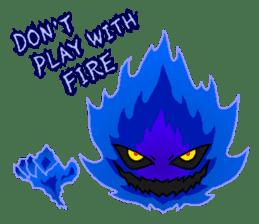 Blue Flame Onibi (Eng) sticker #5631603