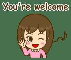 Cute Peppy Girl (conversation set) sticker #5633731