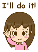 Cute Peppy Girl (conversation set) sticker #5633732
