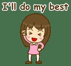 Cute Peppy Girl (conversation set) sticker #5633743