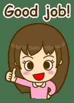 Cute Peppy Girl (conversation set) sticker #5633744