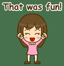 Cute Peppy Girl (conversation set) sticker #5633747