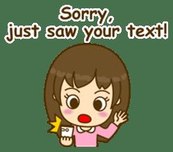 Cute Peppy Girl (conversation set) sticker #5633748