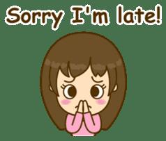 Cute Peppy Girl (conversation set) sticker #5633749