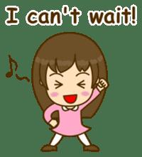 Cute Peppy Girl (conversation set) sticker #5633751