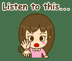 Cute Peppy Girl (conversation set) sticker #5633752