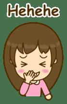 Cute Peppy Girl (conversation set) sticker #5633755