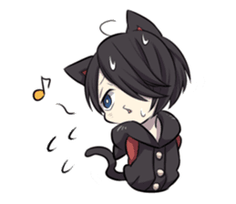 BLACK KITTEN 2 sticker #5636155