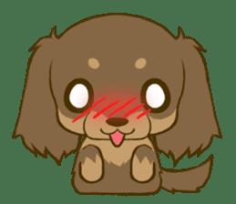 Dachshund tan sticker #5637385