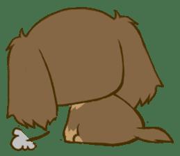 Dachshund tan sticker #5637397