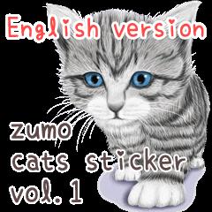 zumo cats sticker vol.1 English version