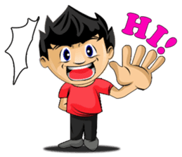 Funny and cute boy sticker #5681156