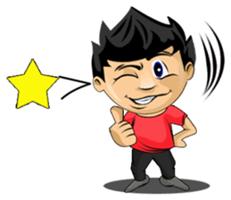 Funny and cute boy sticker #5681157