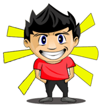 Funny and cute boy sticker #5681158