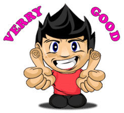 Funny and cute boy sticker #5681194