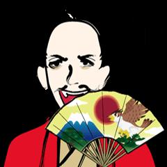 Funny Samurai Sticker  ver.english