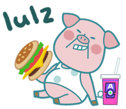Piggy the 3 Big Pigs (English Sticker)2 sticker #5694159