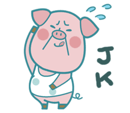 Piggy the 3 Big Pigs (English Sticker)2 sticker #5694163
