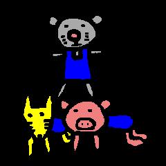happy animal family part2