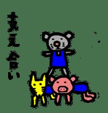 happy animal family part2 sticker #5697856