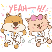 สติ๊กเกอร์ไลน์ หมาแมวแสนสุข สุขภาพดีที่ BPH