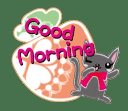 Small cat  (English) sticker #5706196