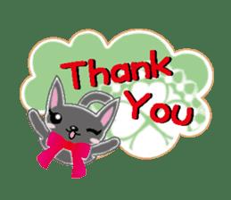 Small cat  (English) sticker #5706200