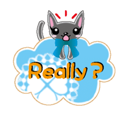 Small cat  (English) sticker #5706205