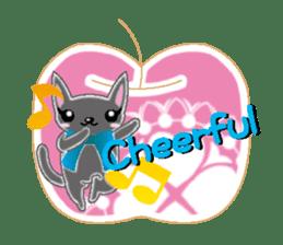 Small cat  (English) sticker #5706209