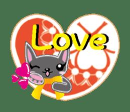 Small cat  (English) sticker #5706211