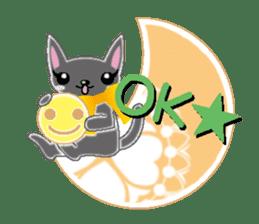 Small cat  (English) sticker #5706212